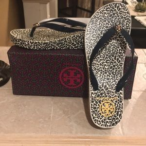 Tory Burch Shoes - Tory Burch Wedge Flip Flops